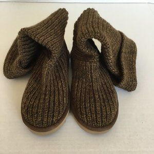 Ugg Brown Sweater Boot Size 7